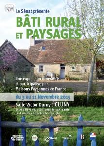 """Affiche de l'exposition """"Bâti rural et paysages en France"""""""