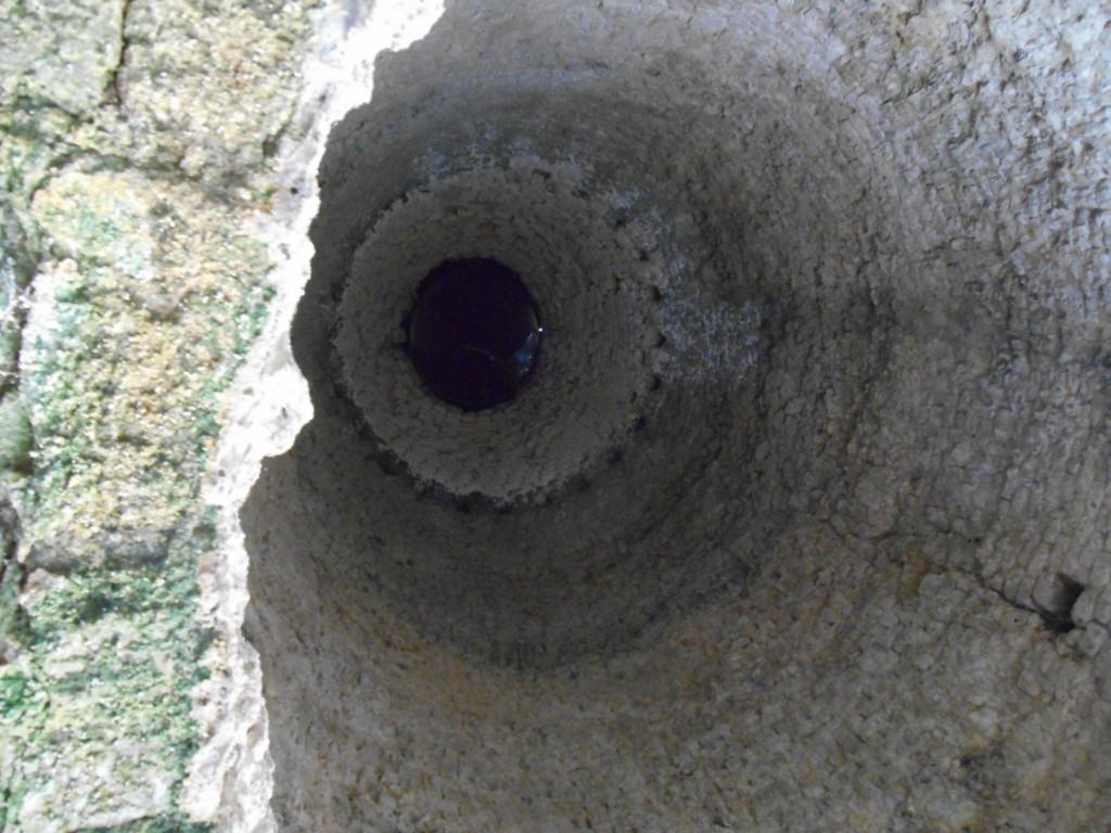 Intérieur du four à chaux