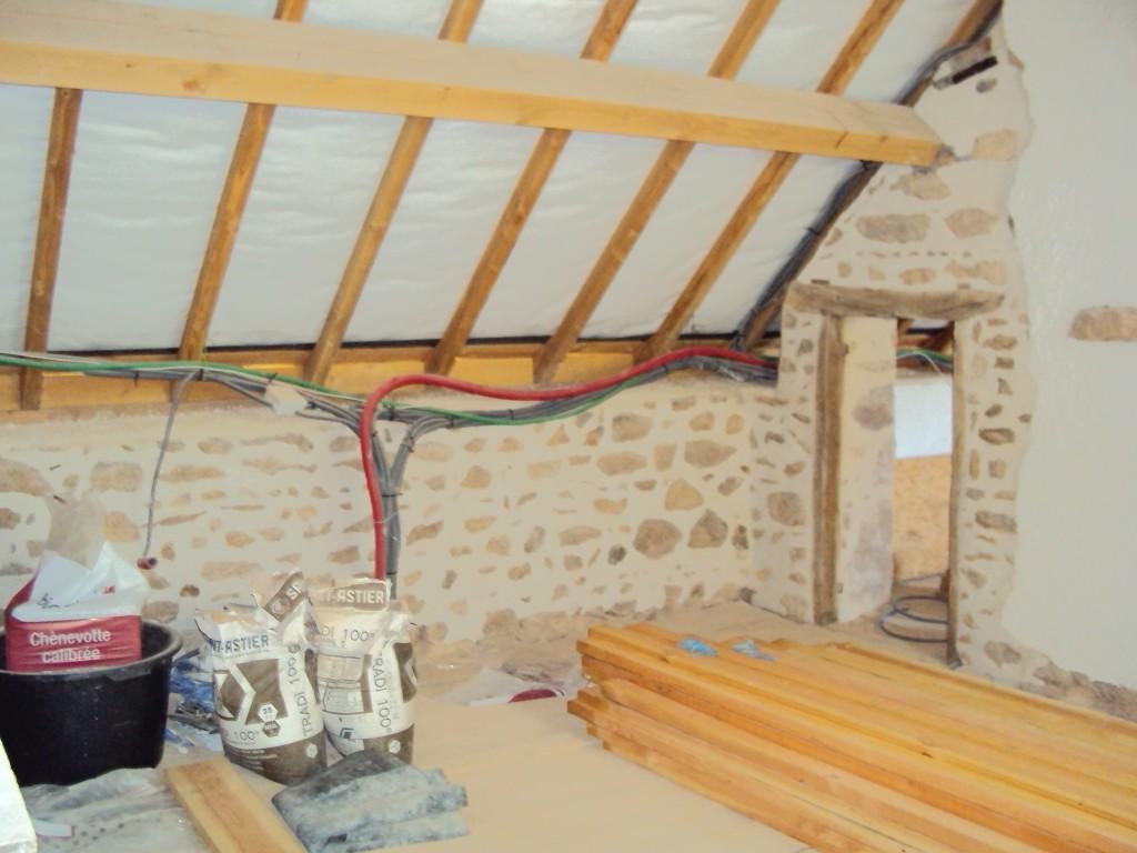 isolation des murs  et du toit